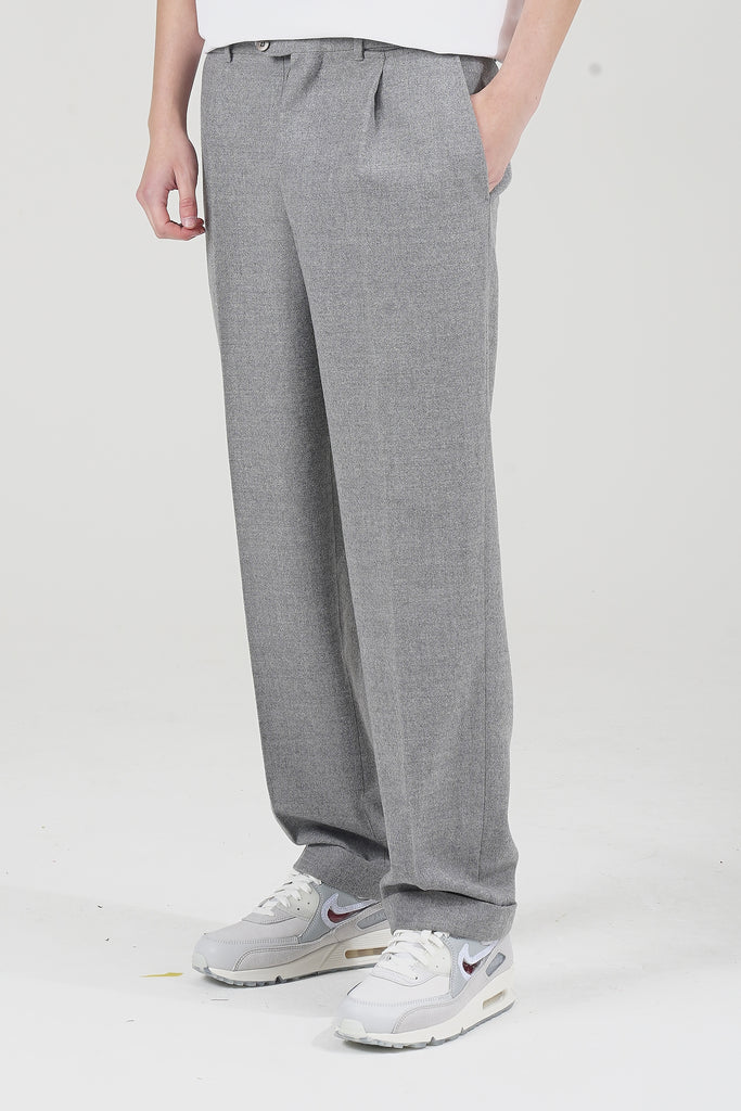 Vintage 90's Ezzelino Wool Tailored Grey Trousers