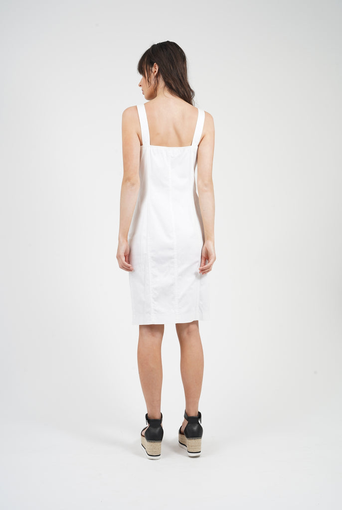Vintage 2000 White Versace Dungaree Dress