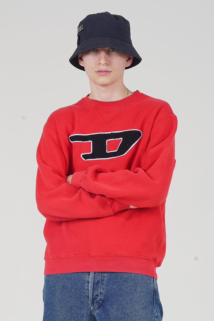 Vintage 90's Diesel Red Logo Sweater