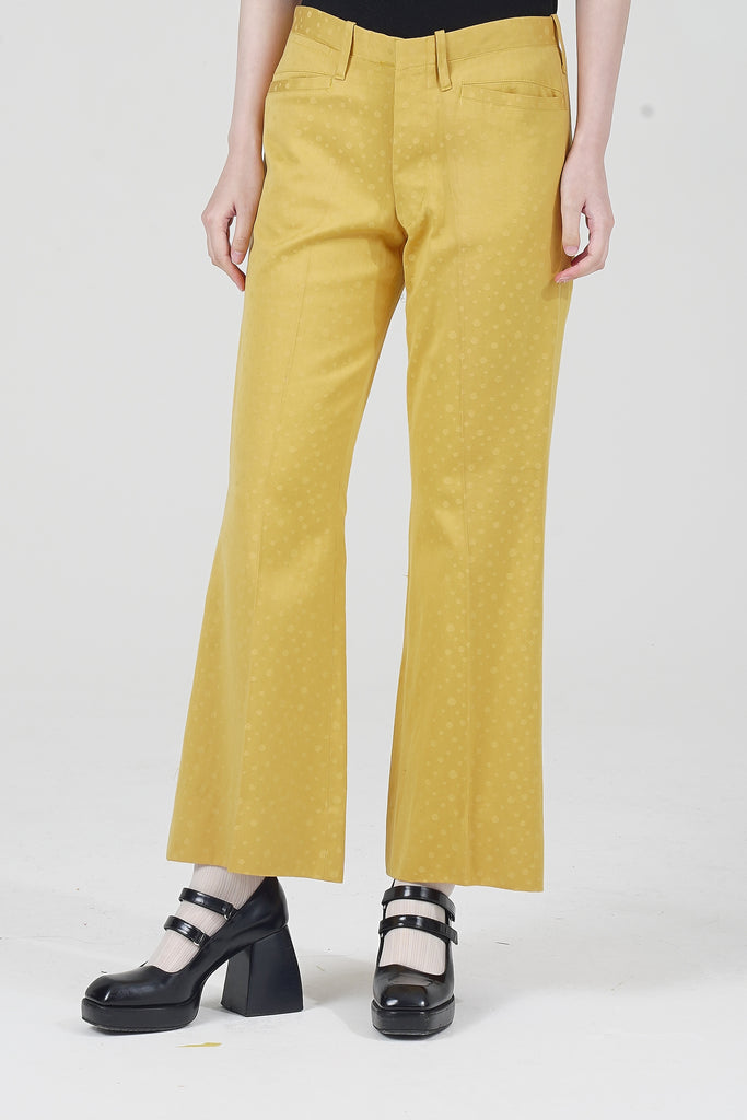 70s High Waisted Polka Dot Trousers