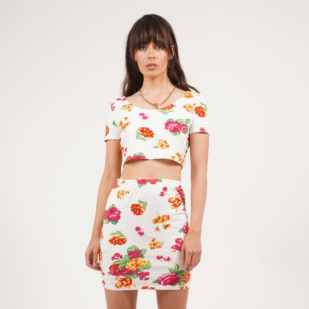 Vintage 90's Benetton flower print co-ord