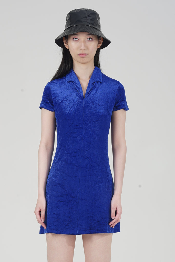 Vintage 90s Stefanel Electric Blue Velvet Dress