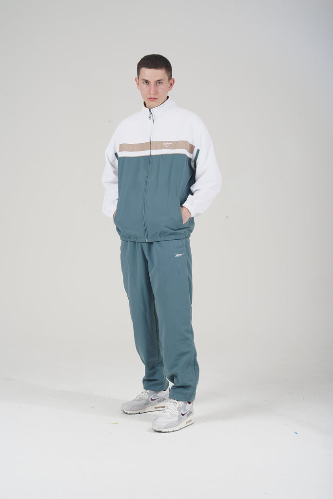 Vintage 90's White/ Green Reebok Tracksuit Co-ord