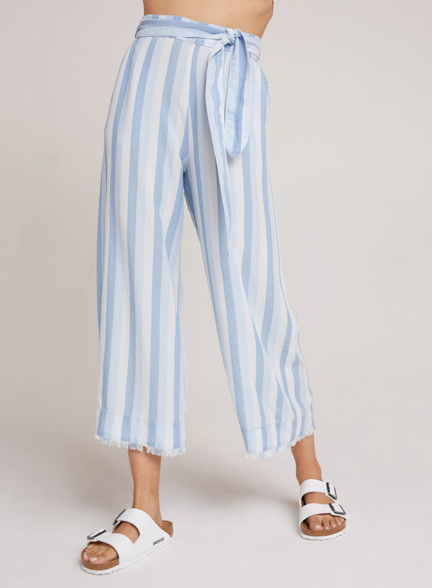 Belted High Waist Crop Pant