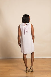 Tie Back Mock Neck Dress