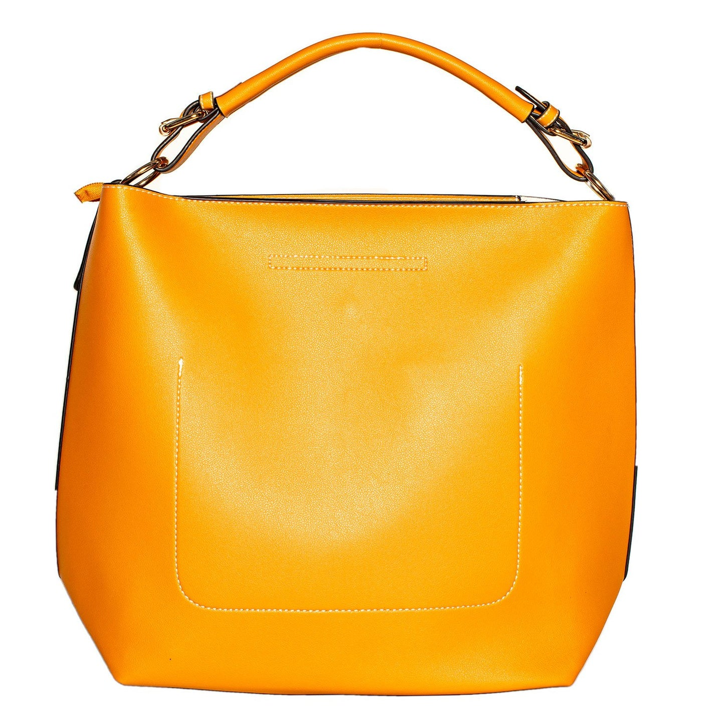 YELLOW TOTE HANDBAG WITH REMOVABLE PURSE  SHORT HANDLES