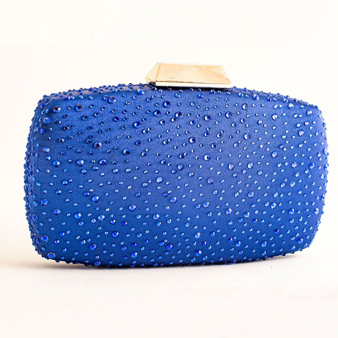 ROYAL BLUE CLUTCH BAG ELEGANT GLITTER WOMEN EVENING CRYSTAL SMALL BAG