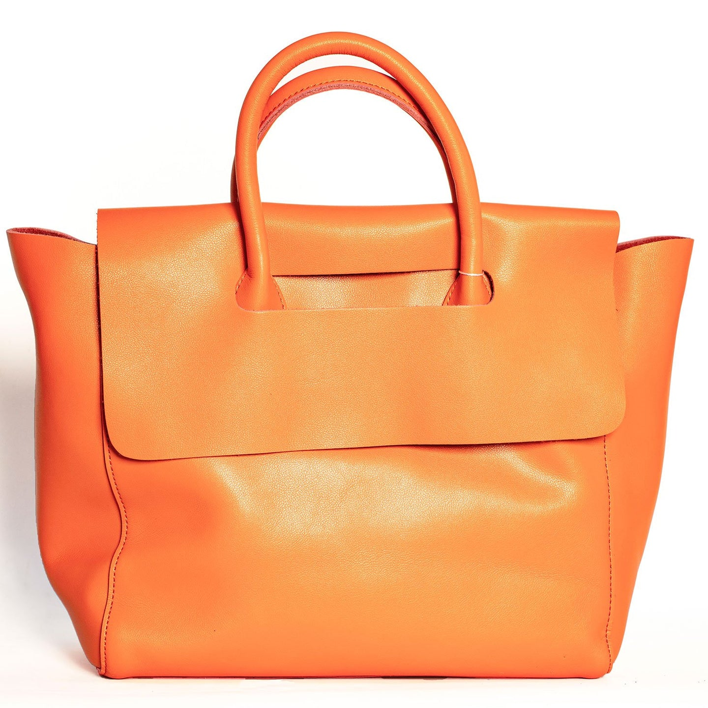 ORANGE MODERN TOTE BAG WITH REMOVABLE PURSE