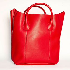 CORAL PINK TOTE HANDBAG WITH REMOVABLE PURSE