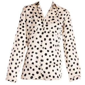 BLACK & WHITE POLKA DOT SHIRT