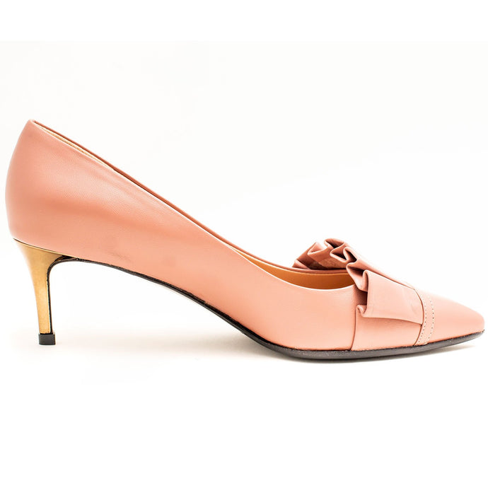 DUSTY PINK LADIES KITTEN HEELS