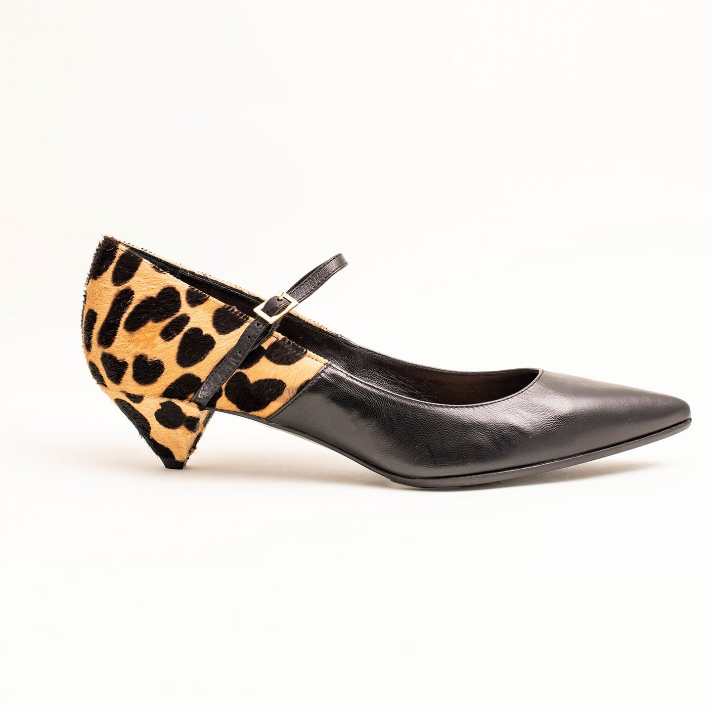 LEOPARD PRINT LADIES KITTEN HEELS