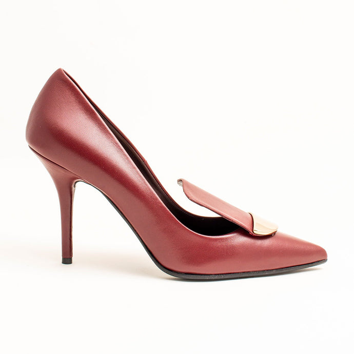 BURGUNDY STYLISH LADIES PUMPS