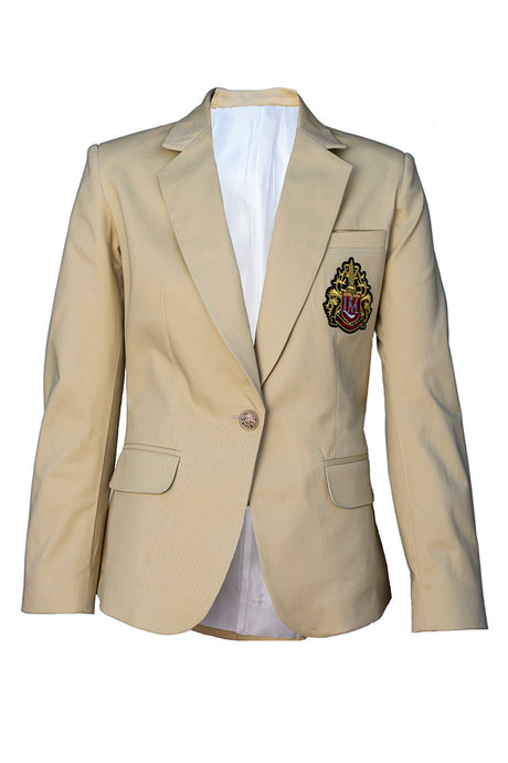 CREAM BLAZER WITH LOGO