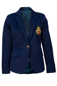 NAVY BLAZER WITH LOGO