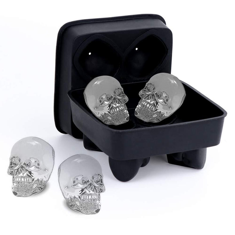 Skull Ice Molds for Whiskey - Bottle Buzz Liquor