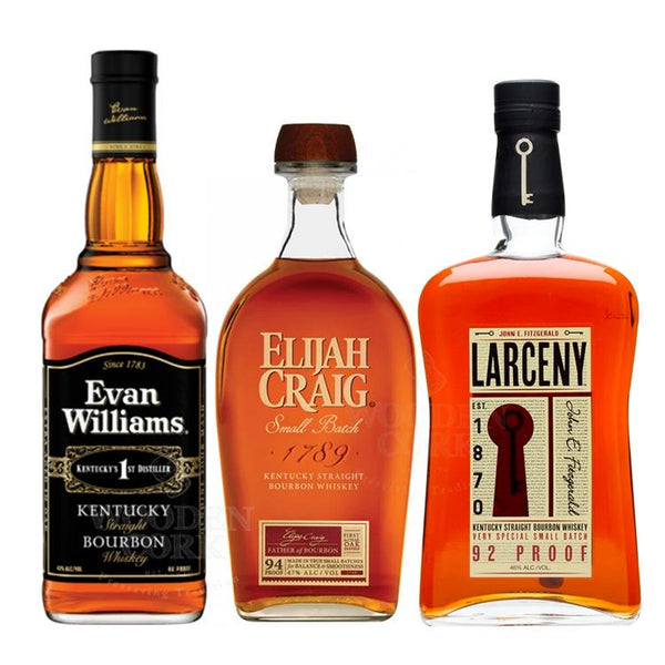 Evan Williams Bourbon, Elijah Craig Small Batch & Larceny Small Batch Bundle - BottleBuzz