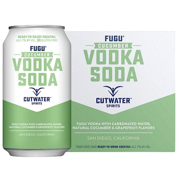 Cutwater Fugu Cucumber Vodka Soda - Bottle Buzz Liquor