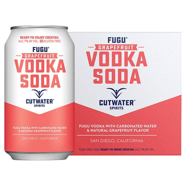 Cutwater Fugu Grapefruit Vodka Soda - Bottle Buzz Liquor