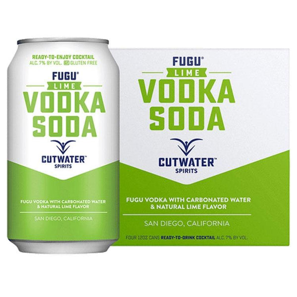 Cutwater Fugu Lime Vodka Soda - Bottle Buzz Liquor