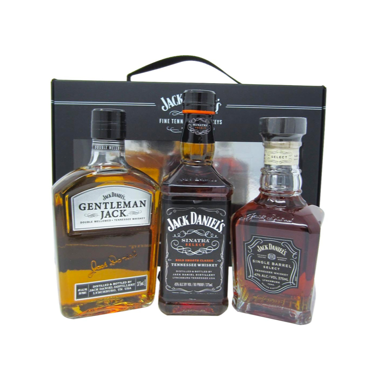 Jack Daniel's 375ml 3 Bottle Set - Gentleman Jack, Sinatra Select, Single Barrel - Bottle Buzz Liquor