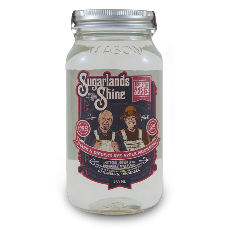 Sugarlands Shine Mark and Digger's Rye Apple Moonshine - Bottle Buzz Liquor