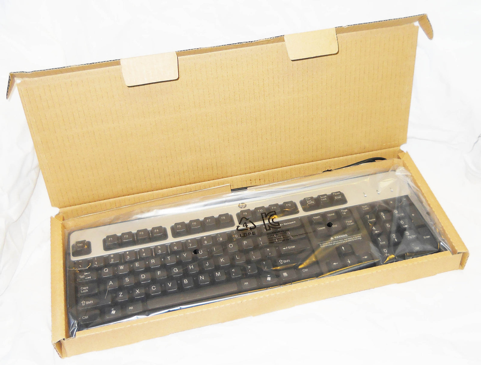HP Black and Silver PS/2 Keyboard- HP PN#434820-002