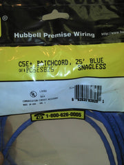 Hubbell 25-Foot RJ45 CAT 5e Snagless Molded Patch Cable (Blue)