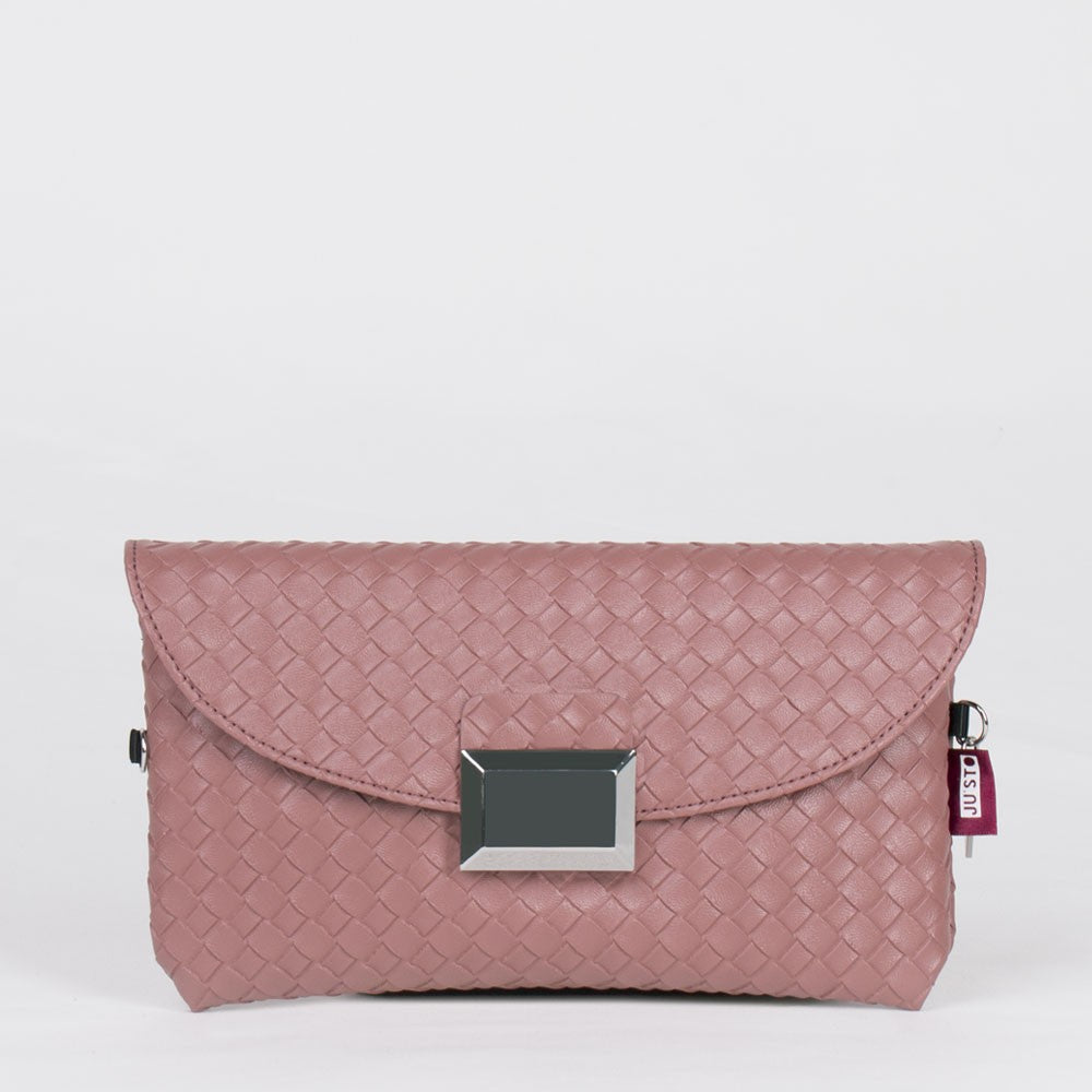 J- POSH BAG WEAVING ECOPELLE ROSA