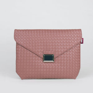 J- CLUTCH WEAVING ECOPELLE ROSA