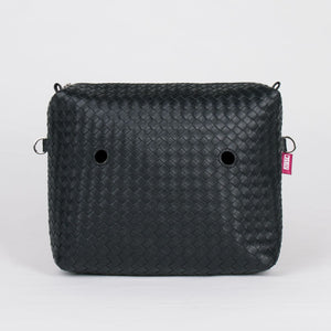 SACCA INT TINY WEAVING ECOPELLE NERO
