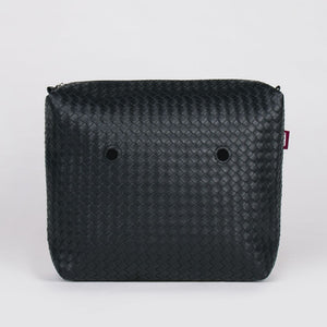 SACCA INT WIDE WEAVING ECOPELLE NERO