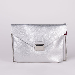 BC SS CLUTCH CRACKLE ARGENTO