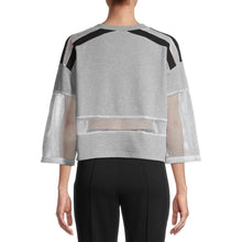 Load image into Gallery viewer, PSK Collective Women's Juniors' Remixed Cropped Sweatshirt