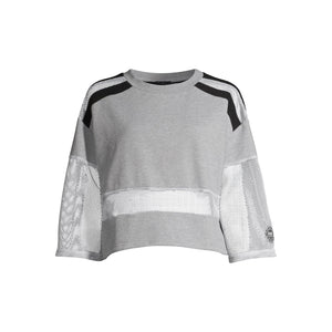 PSK Collective Women's Juniors' Remixed Cropped Sweatshirt