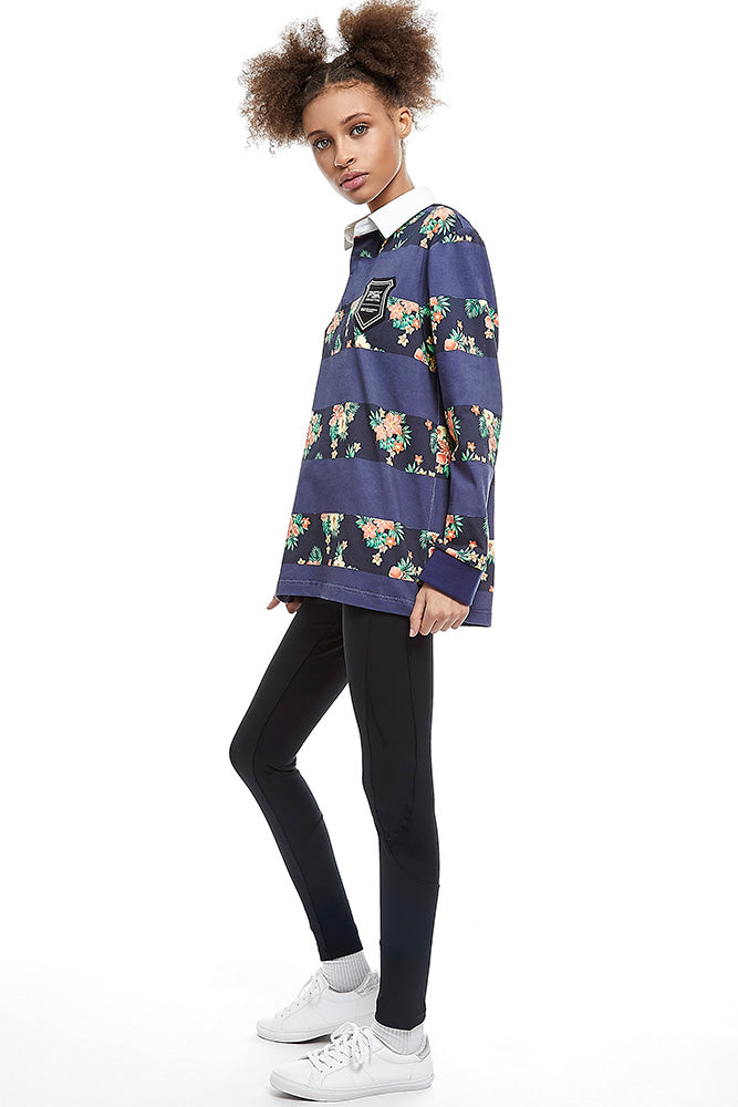 Equal Pay Navy Floral Authentic Rugby Jersey PK-T1-su20