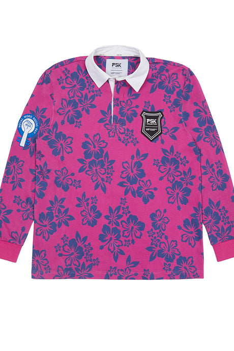 Equal Pay Fuschia Floral Authentic Rugby Jersey