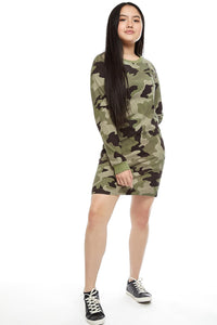 Long Sleeve Camo Dress