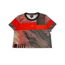 Load image into Gallery viewer, Sublimated cropped t-shirt