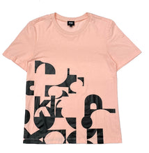 Load image into Gallery viewer, PSK Collective logo abstract graphic T-shirt blush