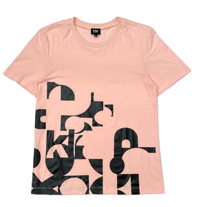 PSK Collective logo abstract graphic T-shirt blush