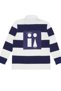 Equal Pay Navy Stripe Authentic Rugby Jersey