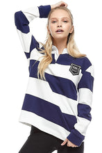 Load image into Gallery viewer, Equal Pay Navy Stripe Authentic Rugby Jersey PK-T1-su20