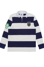 Load image into Gallery viewer, Equal Pay Navy Stripe Authentic Rugby Jersey