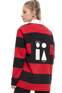 Equal Pay Red Stripe Authentic Rugby Jersey PK-T1-su20