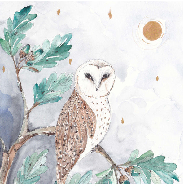 Night Owl Art Print Suba