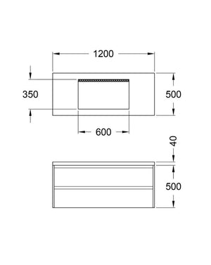 CONCRETE VANITY UNIT SPEC SHEET DIMENSIONS