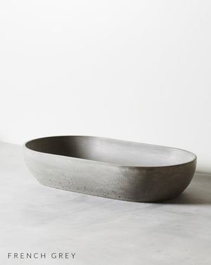 Load image into Gallery viewer, Arc Concrete Bench Mounted Basin Grey Mist
