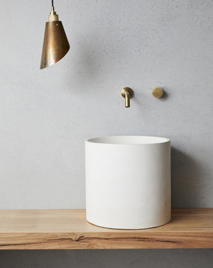 Amalfi Freestanding Concrete Basin on counter