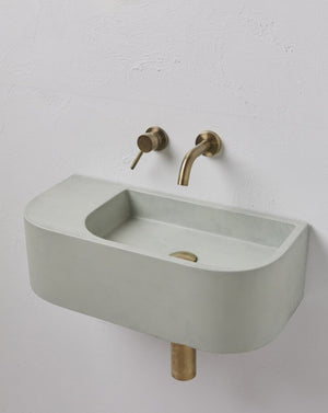 Aura Pod Concrete Wall mounted Basin Mint